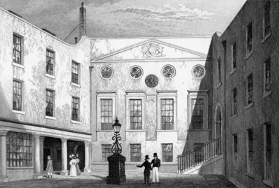 Apothecaries' Hall, Pilgrim St., Blackfriars, engraved by J. Hinchliff, 1831 (engraving) Wall Art & Canvas Prints by Thomas Hosmer Shepherd