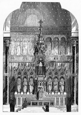 High Altar of St Alphonsus Liguori, Limerick, Ireland, illustration from 'The Builder', 1865 (engraving) Wall Art & Canvas Prints by Irish School