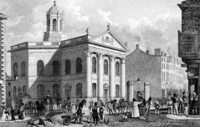 Unitarian Chapel, Paradise Street, Liverpool, engraved by J. Smith (engraving) Postcards, Greetings Cards, Art Prints, Canvas, Framed Pictures, T-shirts & Wall Art by English School