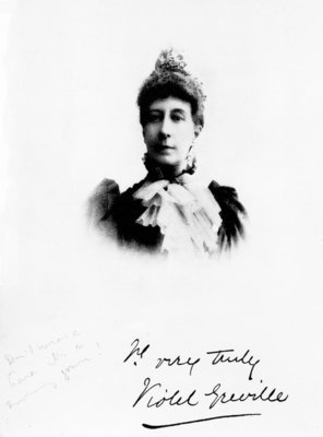 Lady Violet Greville (b/w photo) Wall Art & Canvas Prints by English Photographer