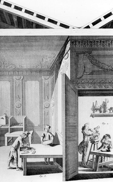 l'Art de Porcelain, 1771 (engraving) Wall Art & Canvas Prints by French School