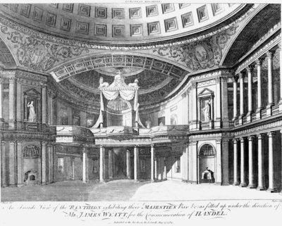 An inside view of the Pantheon, Oxford Street, London, 1784 (engraving) Wall Art & Canvas Prints by John Dixon