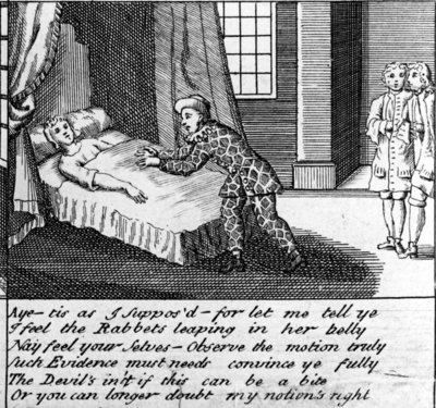 The Doctor in Labour, or the New Whim Wham from Guildford, circa 1726 (engraving) Wall Art & Canvas Prints by Haynes King
