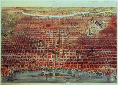 General View of Philadelphia, 1875 Fine Art Print by N. Currier