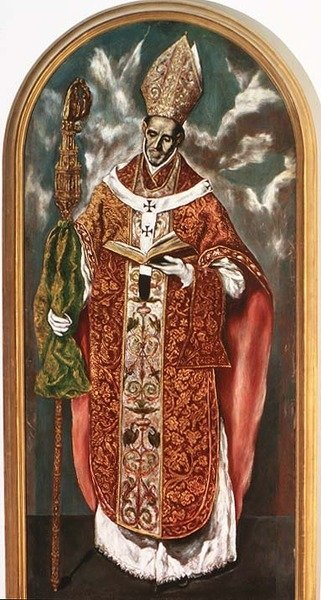 Saint Ildefonsus, a copy of the original in the Escorial Fine Art Print by Domenico El Greco