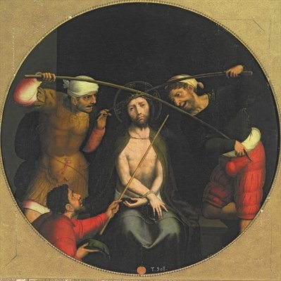 Christ crowned with Thorns Fine Art Print by Juan Correa de Vivar