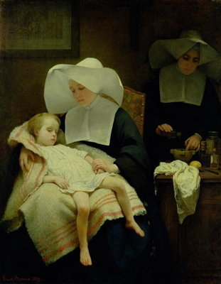 The Sisters of Mercy, 1859 Fine Art Print by Henriette Browne