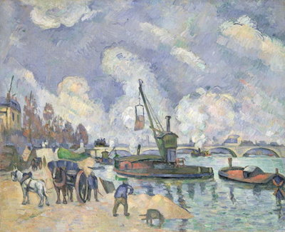 Quai de Bercy, Paris, 1873-75 (oil on canvas) Fine Art Print by Paul Cezanne