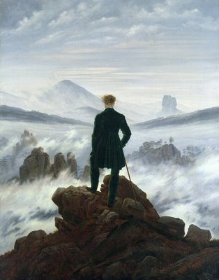 The Wanderer above the Sea of Fog, 1818 Fine Art Print by Caspar David Friedrich
