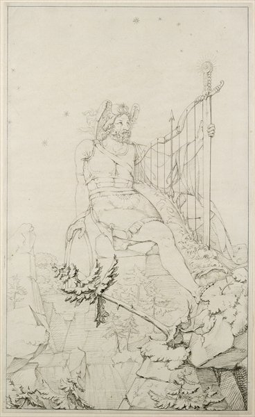 Ossian, 1804-5 (wash over pencil on paper) Wall Art & Canvas Prints by Philipp Otto Runge