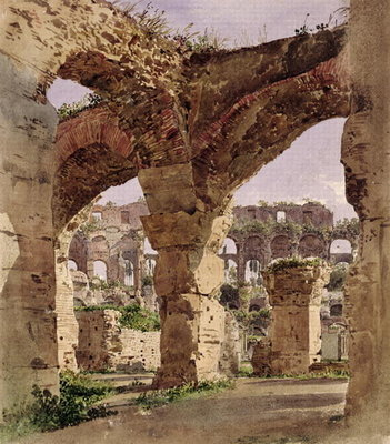 The Colosseum, Rome, 1835 (w/c on paper) Wall Art & Canvas Prints by Rudolph von Alt