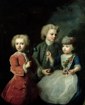 The Children of Councillor Barthold Heinrich Brockes Fine Art Print by Balthasar Denner