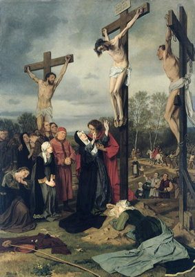 Crucifixion, 1873 (oil on canvas) Fine Art Print by Eduard Karl Franz von Gebhardt