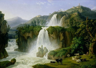 The Waterfall at Tivoli, 1785 (oil on canvas) Wall Art & Canvas Prints by Jacob-Philippe Hackert