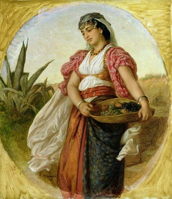 A Woman from Algiers, 1871 (oil on canvas) Postcards, Greetings Cards, Art Prints, Canvas, Framed Pictures & Wall Art by John Evan Hodgson