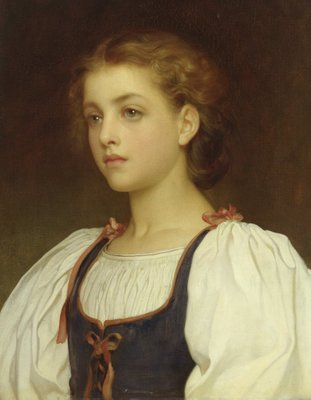 Biondina (oil on canvas) Postcards, Greetings Cards, Art Prints, Canvas, Framed Pictures, T-shirts & Wall Art by Frederic Leighton