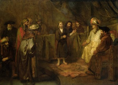 The Twelve Year Old Jesus in front of the Scribes, c.1655 Fine Art Print by Rembrandt Harmensz. van Rijn
