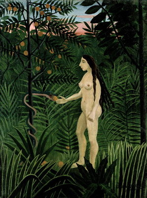 Eve, c.1906-07 (oil on canvas) Wall Art & Canvas Prints by Henri J.F. Rousseau