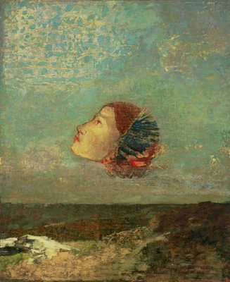 Homage to Goya, c.1895 (oil on card mounted on canvas) Wall Art & Canvas Prints by Odilon Redon