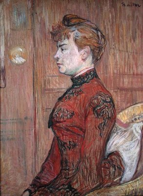 Portrait Study of a Woman in Profile, 1890 Fine Art Print by Henri de Toulouse-Lautrec