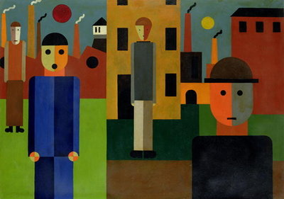 Factories, 1926 (oil on card) Wall Art & Canvas Prints by Franz W. Seiwert