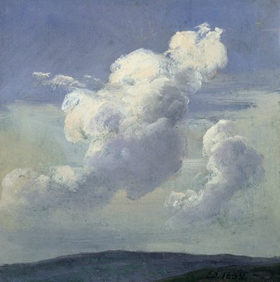 Cloud Study, 1832 (oil on paper laid down on card) Wall Art & Canvas Prints by Johan Christian Dahl
