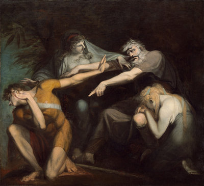 Oedipus Cursing His Son, Polynices, 1786 (oil on canvas) Fine Art Print by Henry Fuseli