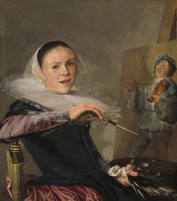 Self Portrait, c.1630 (oil on canvas) Fine Art Print by Judith Leyster