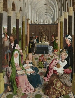The Holy Kinship, c.1495 (oil on panel) Fine Art Print by Geertgen tot Sint Jans