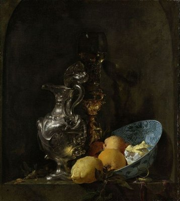 Still Life with Silver Ewe, c.1655-60 (oil on canvas) Fine Art Print by Willem Kalf