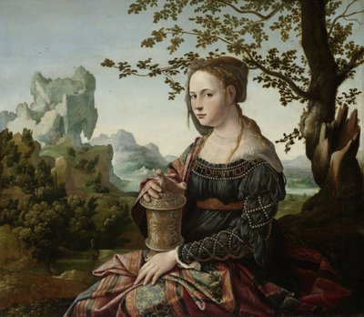Mary Magdalene, c.1530 (oil on panel) Fine Art Print by Jan van Scorel