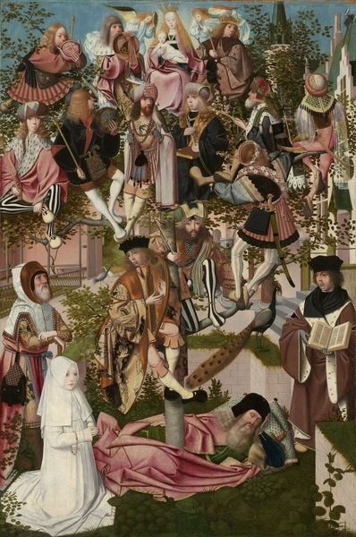 The Tree of Jesse, c.1500 (oil on panel) Fine Art Print by Geertgen tot Sint Jans