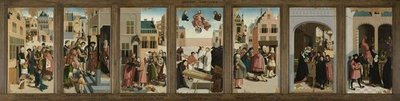 The Seven Works of Mercy, 1504 (oil on panel) Fine Art Print by Master of Alkmaar