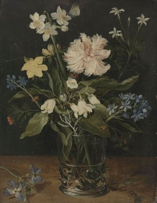Still Life with Flowers in a Glass, 1630 (oil on copper) Fine Art Print by Jan the Elder Brueghel