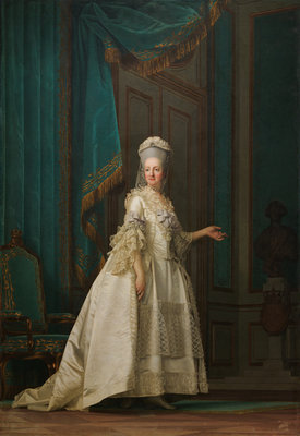 The Dowager Queen Juliane Marie of Denmark, 1776 (oil on canvas) Postcards, Greetings Cards, Art Prints, Canvas, Framed Pictures, T-shirts & Wall Art by Vigilius Erichsen