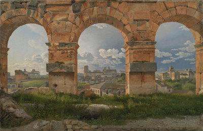 A View through Three of the North-Western Arches of the Third Storey of the Coliseum in Rome, 1815 (oil on canvas) Postcards, Greetings Cards, Art Prints, Canvas, Framed Pictures, T-shirts & Wall Art by Christoffer-Wilhelm Eckersberg