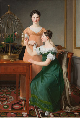 Bella and Hanna. The Eldest Daughters of M.L. Nathanson, 1820 (oil on canvas) Postcards, Greetings Cards, Art Prints, Canvas, Framed Pictures, T-shirts & Wall Art by Christoffer-Wilhelm Eckersberg