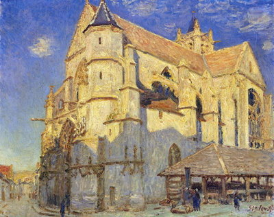 The Church at Moret, Frosty Weather, 1893 Wall Art & Canvas Prints by Alfred Sisley