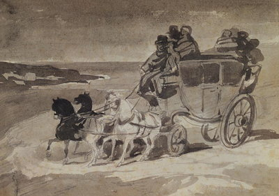 The Stagecoach Fine Art Print by Theodore Gericault