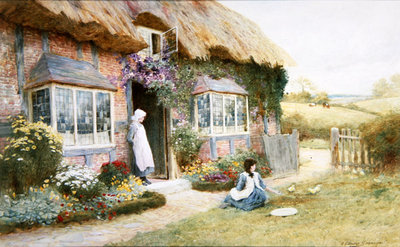 Peaceful Afternoon (w/c) Wall Art & Canvas Prints by Arthur Claude Strachan