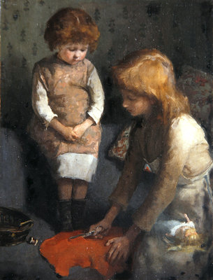 Sisters (oil on canvas) Wall Art & Canvas Prints by Elizabeth Adela Stanhope Forbes