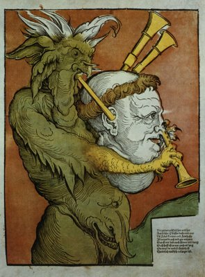 Luther as the Devil's Bagpipes, c.1535 Poster Art Print by Eduard Schoen