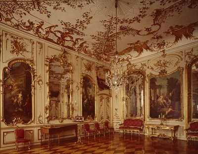 Concert Room, Frederick II, Sanssouci Fine Art Print by Anonymous