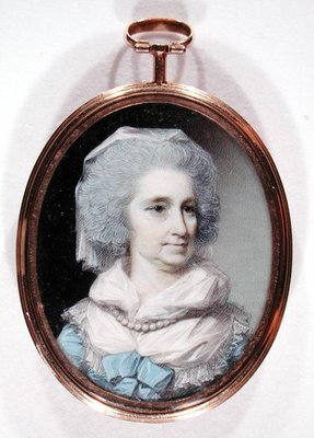 Lady Grace Burnaby (w/c and gouache on ivory) Fine Art Print by George Engleheart