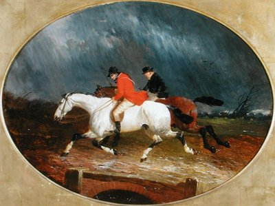 The Return from the Hunt in the Rain (oil on canvas) Fine Art Print by John Frederick Herring Jnr