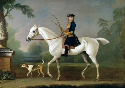 Sir Roger Burgoyne Riding 'Badger', 1740 (oil on canvas) Postcards, Greetings Cards, Art Prints, Canvas, Framed Pictures, T-shirts & Wall Art by James Seymour
