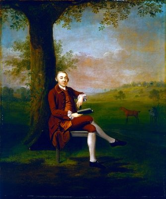 Portrait possibly of John Trevor, 3rd Baron Trevor of St. Anne's Hill, Surrey and Trevalyn Hall, Denbighshire, 1763 (oil on canvas) Fine Art Print by Arthur Devis