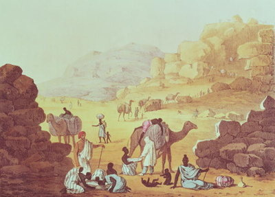 A Slave Caravan, plate from 'A Narrative of Travels in Northern Africa', 1821 Fine Art Print by Captain George Francis Lyon