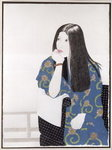 Blue Kimono, 1995 (ink, w/c, gouache and charcoal on paper) Wall Art & Canvas Prints by Kan'en Iwasaki