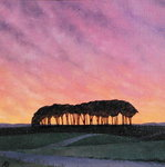 Distant Pines (oil on canvas) Fine Art Print by Charles Filiger